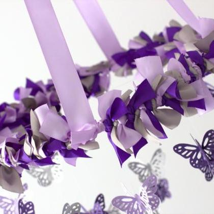 Purple, Lavender & Gray Butterfly N..